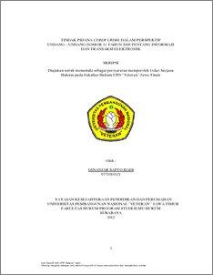 Tindak Pidana Cyber Crime Dalam Perspektif Undang Undang Nomor 11 Tahun 2008 Tentang Informasi Dan Transaksi Elektronik